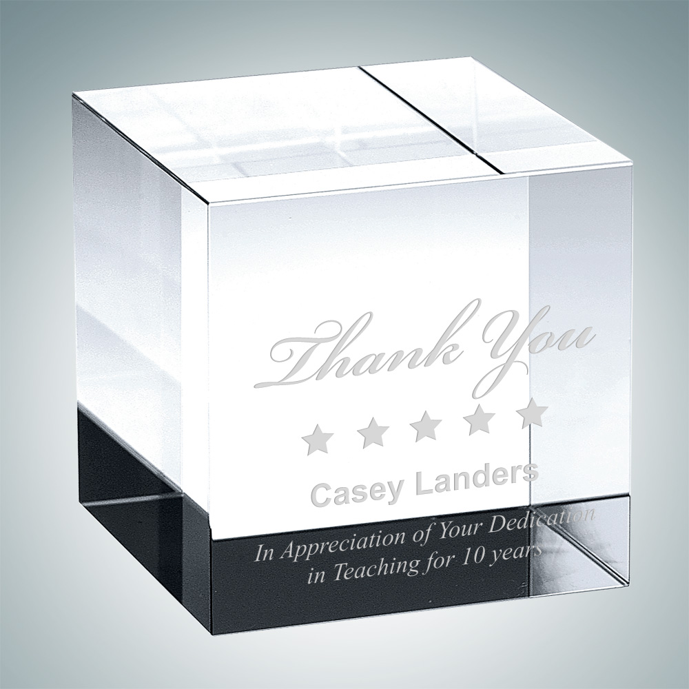 Straight Cube Paperweight – Small