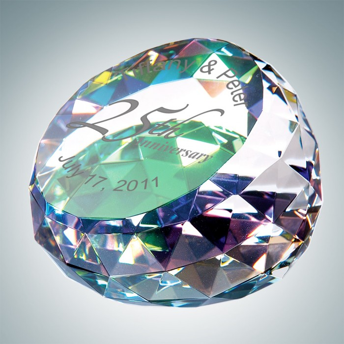 Color Coated Round Cut Gem