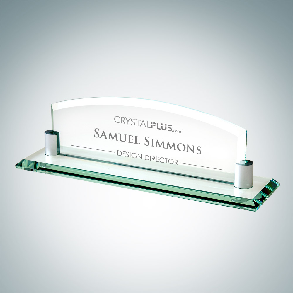 Nameplate with Aluminum Holder - Large
