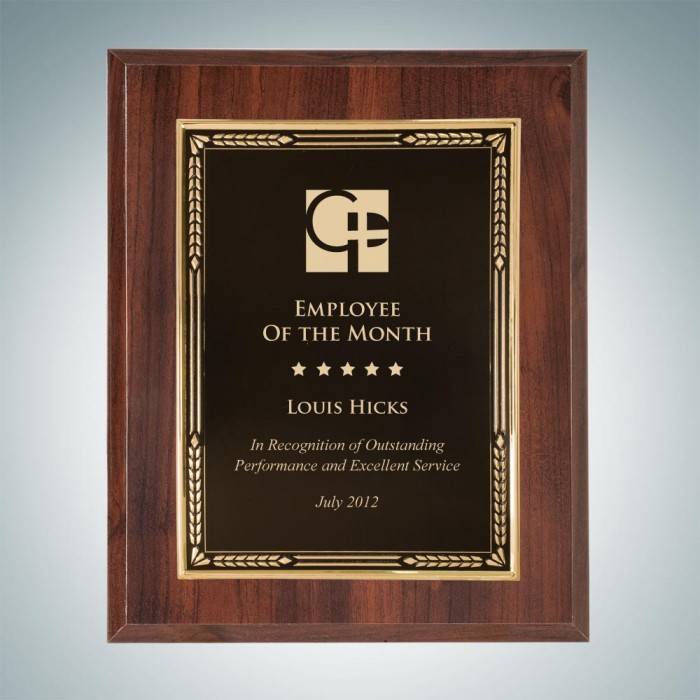 High Gloss Cherry Wall Plaque w/