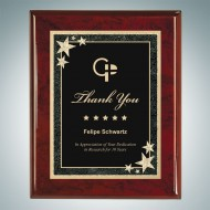 Rosewood Piano Finish Plaque - Black Star Plate