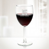 Engraved Molten Glass Noblesse Goblet Wine Glass