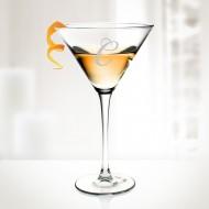 Engraved Molten Glass 10oz Martini Cocktail Glass