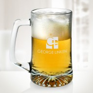 Engraved Molten Glass 25 oz Sport Beer Mugs