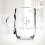 Engraved Molten Glass Coffee Mug