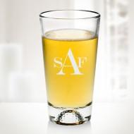 Engraved 16 oz Molten Glass Golfball Beer Mug