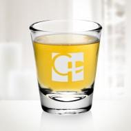 Engraved Molten Glass 2oz Shot Glass