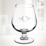 Engraved Molten Glass 12oz Brandy Glass