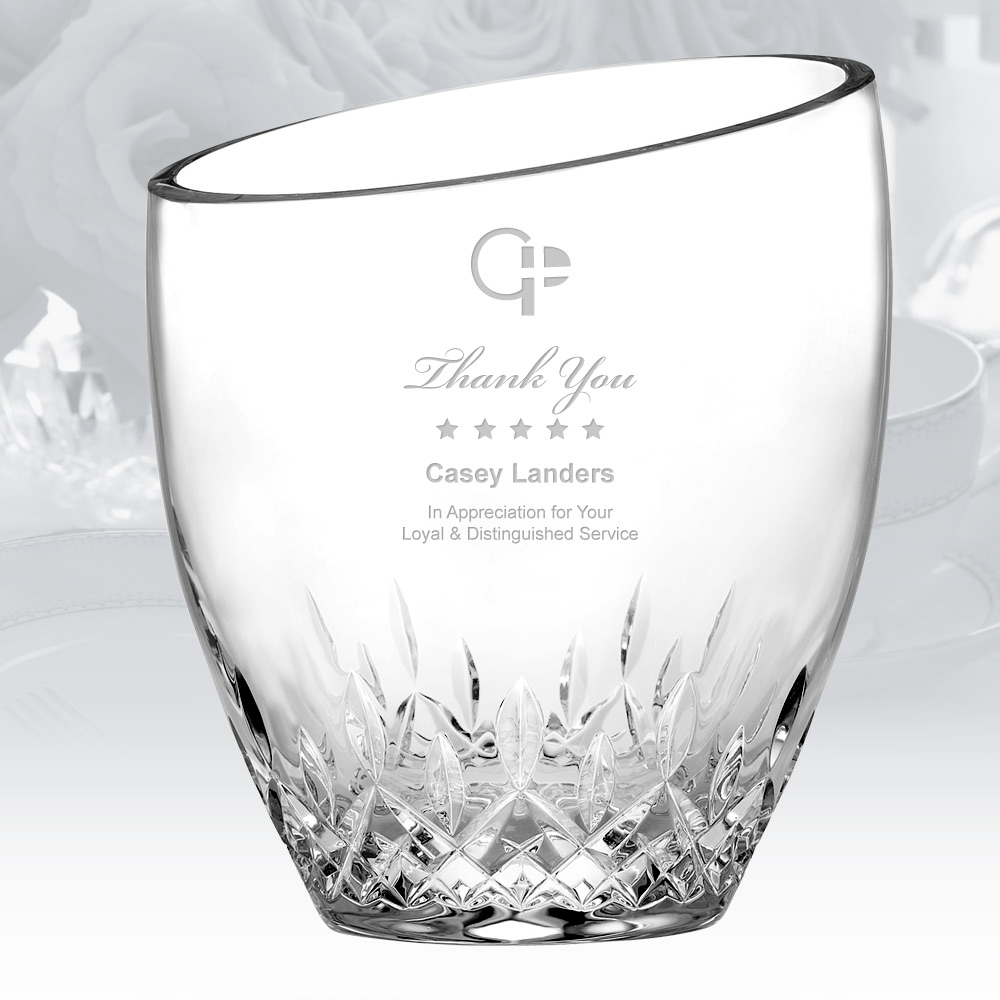 Personalized Waterford Lismore Essence Angled Top Ice Bucket