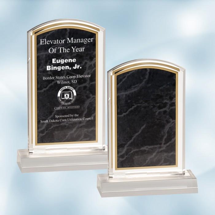 Black Marbleized Acrylic Award