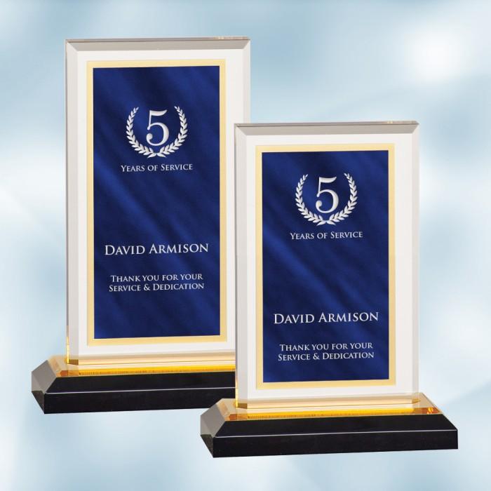 Blue Royal Impress Acrylic Award