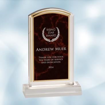 Red Marbleized Acrylic Award