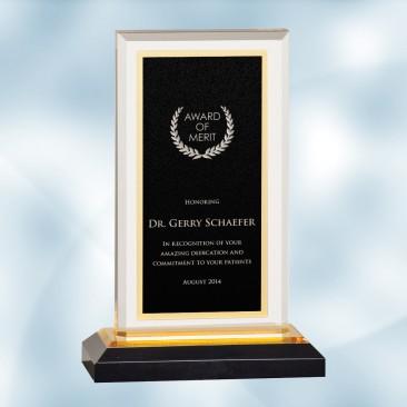 Black/Gold Royal Impress Acrylic Award
