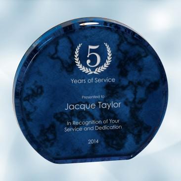 Blue Marble Aurora Acrylic Award