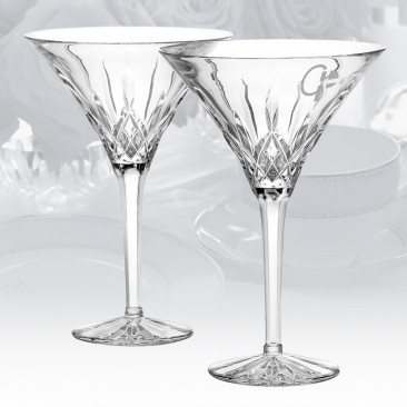 Waterford Lismore Martini Glass, Pair