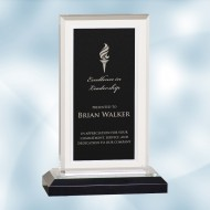 Black/Silver Royal Impress Acrylic Award