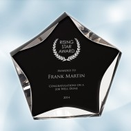 Black/Clear Luminary Star Acrylic Award