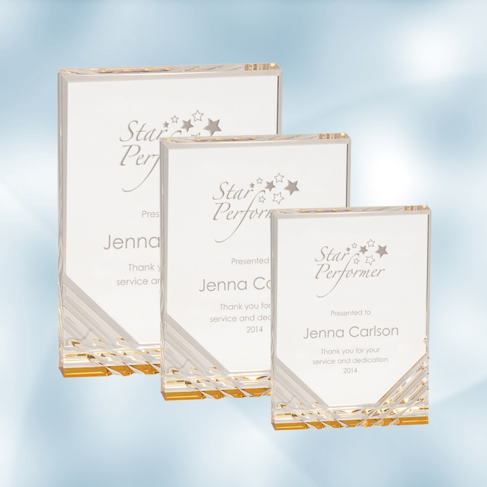 Gold Jewel Mirage Acrylic Award