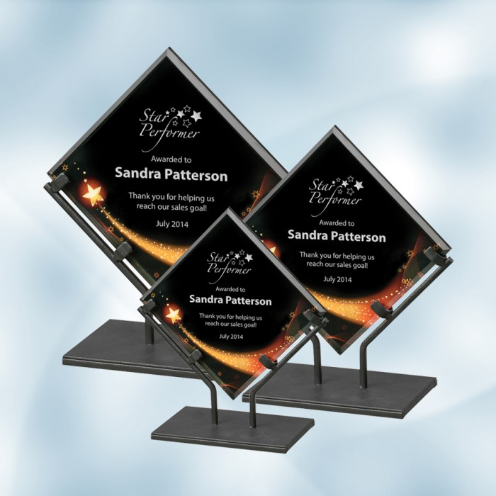 appreciation plaques star galaxy acrylic plaque with iron stand