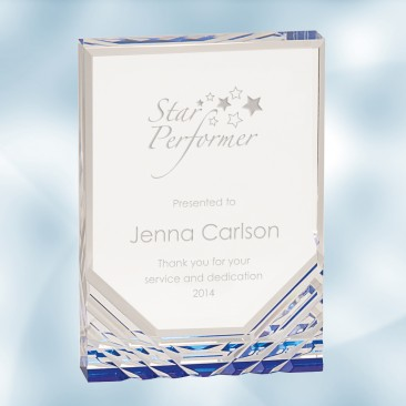 Blue Jewel Mirage Acrylic Award