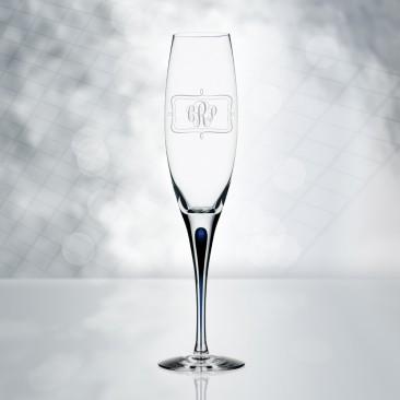 Orrefors Intermezzo Blue Champagne Flute 7oz