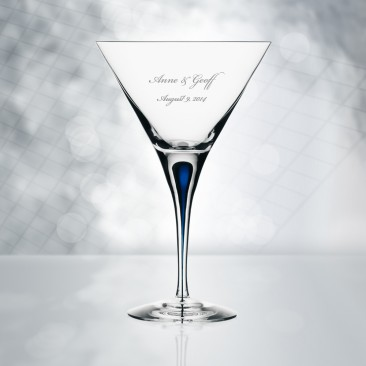 Orrefors Intermezzo Blue Martini 7oz