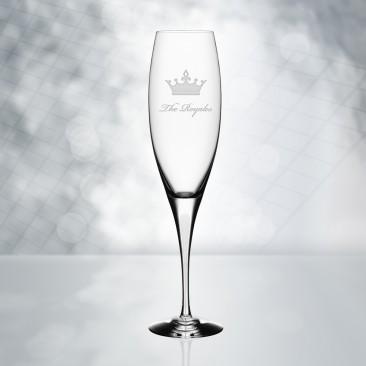 Orrefors Intermezzo Satin Champagne Flute 7oz