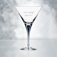 Orrefors Intermezzo Blue Martini 7oz