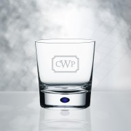 Orrefors Intermezzo Blue DOF Whiskey Glass 11oz