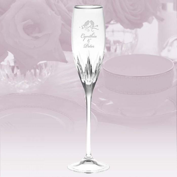 Flutes wine glass vera wang wedgwood duchesse platinum flute stemware - Vera wang duchesse wine glasses ...