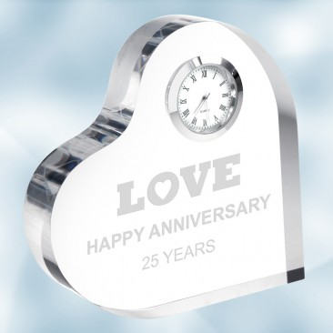 Acrylic Heart Keepsake Clock