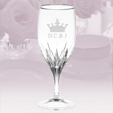 Vera Wang Wedgwood Duchesse Platinum Iced Beverage Glass 23oz