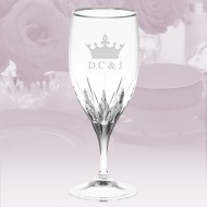 Vera Wang Wedgwood Duchesse Platinum Iced Beverage Glass 23oz