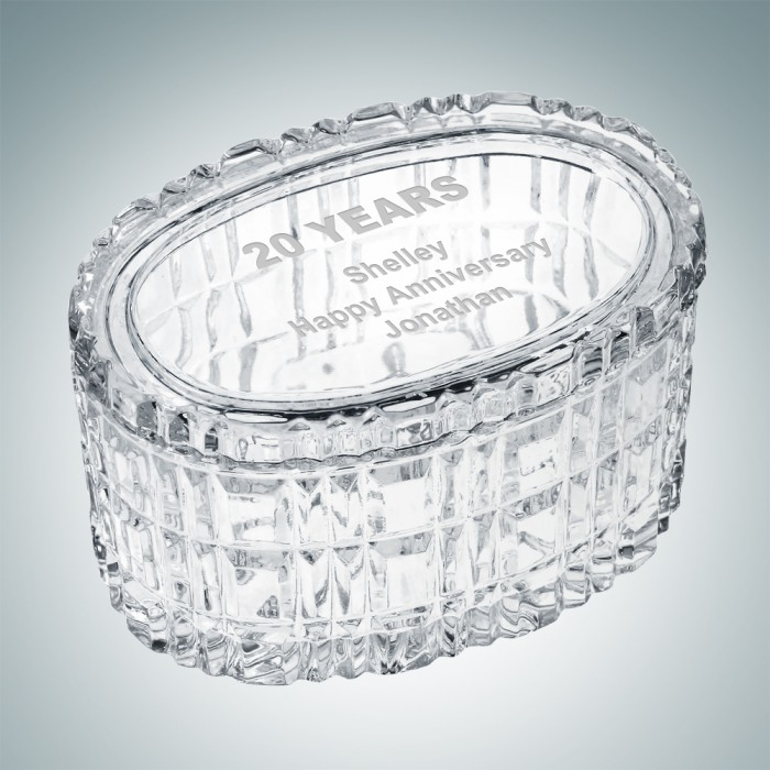 Majestic Crystal Box - Oval