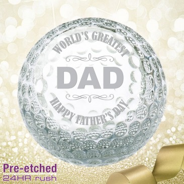 Pre-etched Father's Day Golf Ball Gift
