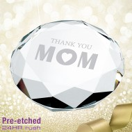 Pre-etched Mother's Day Paperweight Gift