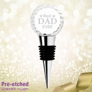 Pre-etched Golf Ball Wine Stopper