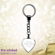 Pre-etched Heart Keychain for Mom