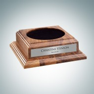 Optional Walnut Wood Base with Personalized Silver Plate
