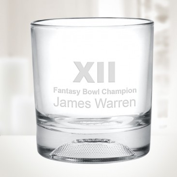 10oz Champions Football Otr Whiskey Glass