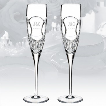 Waterford Love Wedding Vows Flute 5oz, Pair