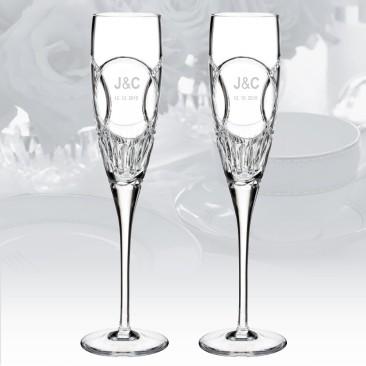 Waterford Love Wedding Vows Flute 5oz, Pair