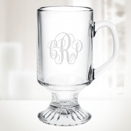 10oz Irish Coffee Footed Glass Mug