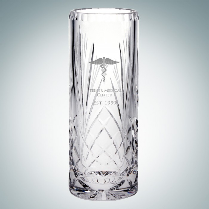 Cristal D Arques Lead Crystal Serenity Cylinder Vase Executive Gift