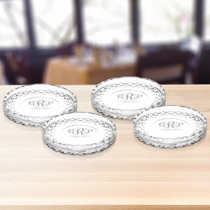 Circle Crystal Coasters Set