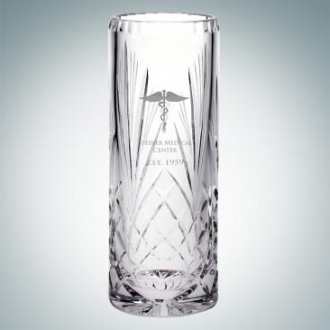 Serenity Cylinder Vase   Hand Cut