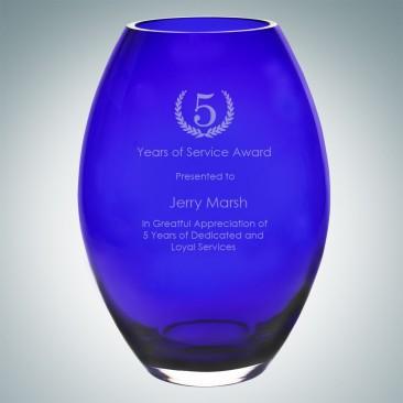 Cobalt Blue Barrel Vase