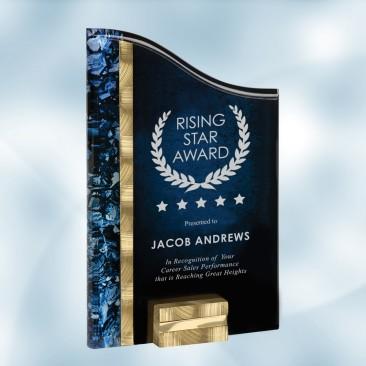 SunRay Gold / Blue Acrylic Award
