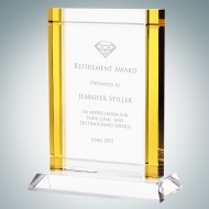 Classic Amber Deco Award (Crystal Base)