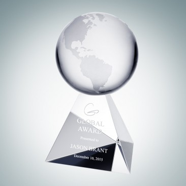 Globe on Triangle Crystal Base